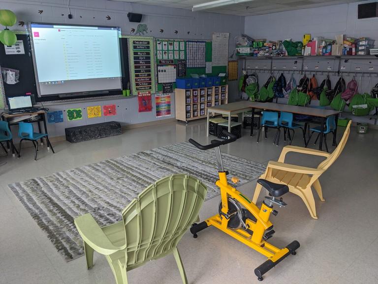 A classroom at Shediac Cape School.