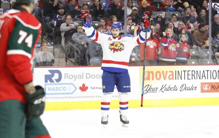 Former Moncton Wildcats forward Benoit-Olivier Groulx made his NHL debut with the Anaheim Ducks on Wednesday.
