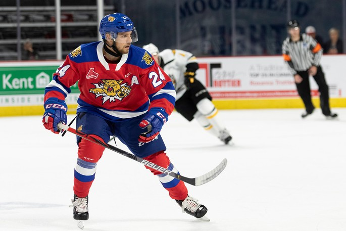 Former Moncton Wildcats forward Mika Cyr has been invited to the Montreal Canadiens' NHL rookie camp.
