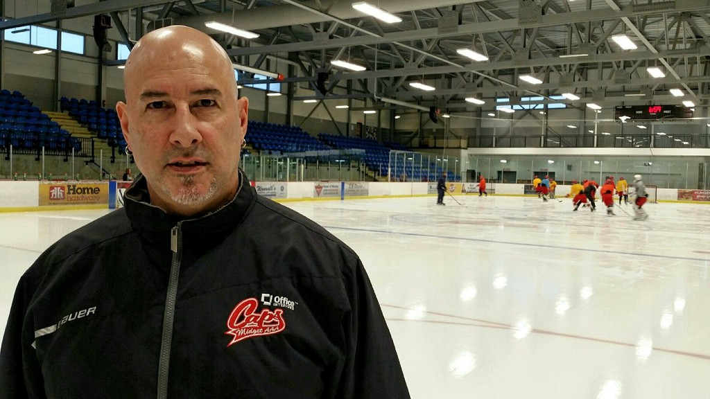Fredericton Office Interiors Caps head coach Eric Bissonnette.