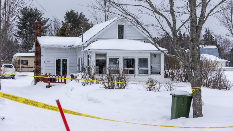 Investigators were on the scene of a suspected homicide on March 10, 2020, in Saint-Ignace.