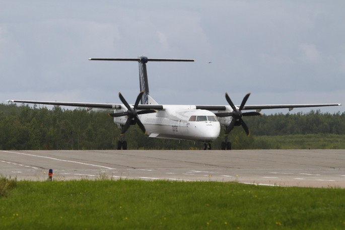 A Porter Airlines flight taxis at the Saint John Airport in this file photo.