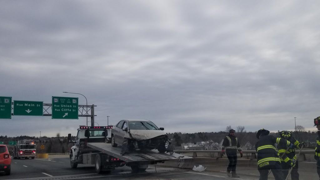 A file photo of a crash on the Westmorland Street Bridge.