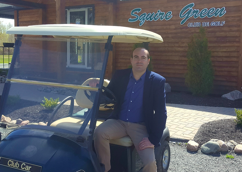 Cyril Courtin is manager at Squire Green Golf Club. The golf club showed an increase in revenue, number of visitors and members in 2020.