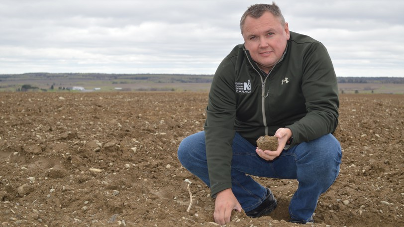 Matt Hemphill, executive director for Potatoes NB, is shown in a file photo. He says the potato industry has seen one of the best harvest seasons in the last decade.