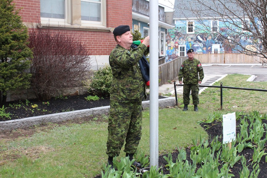 Last May, Lt. Col. Tom Peppard and a member of the 8th Canadian Hussars Regiment raised a flag to commemorate the anniversary of the liberation of the Netherlands - which happened 75 years ago.