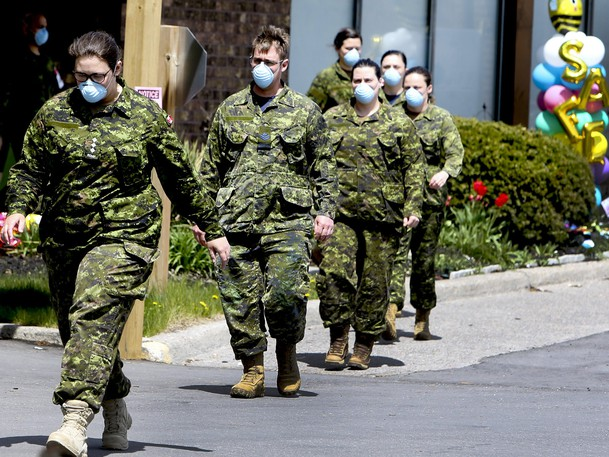 Members of the Canadian Armed Forces.
