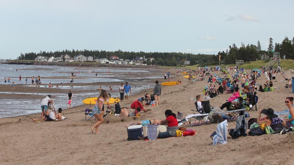 Parlee Beach is a popular destination in warmer weather.