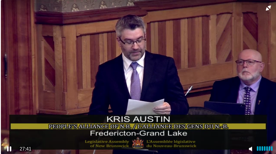 People's Alliance Leader Kris Austin.