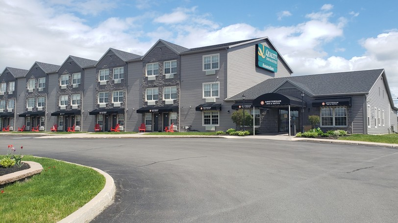 The Quality Inn and Suites Amsterdam on Bishop Drive in Fredericton.