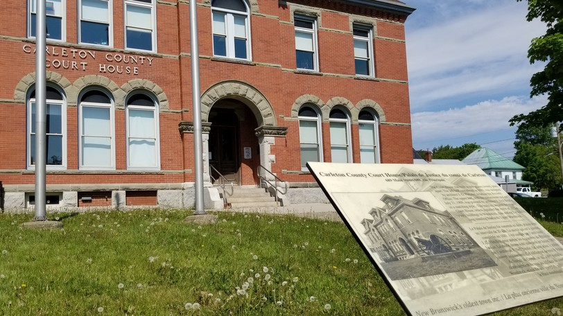 Simon Thomas will spend the next two years in jail for after pleading guilty to numerous charges. Pictured is the Woodstock courthouse.
