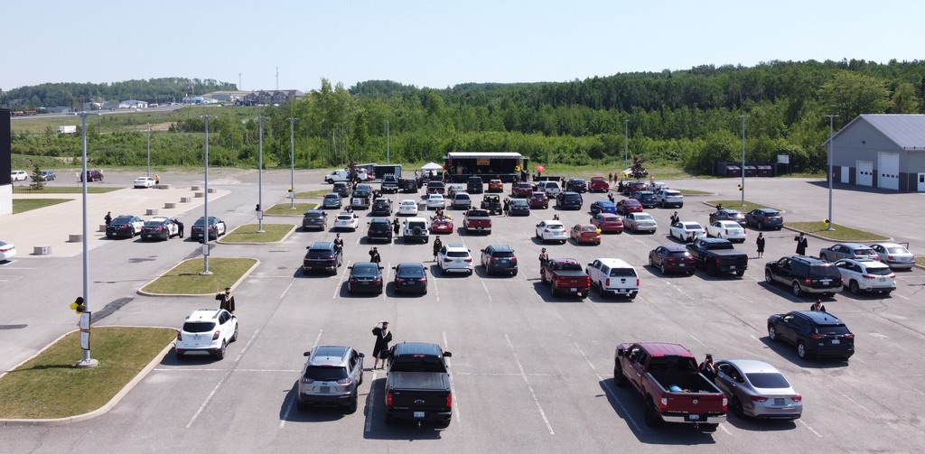 A drive-in style graduation was held for John Caldwell School in 2020 but this year, graduate will receive their diplomas at a ceremony inside the E. and P. Senechal Centre in Grand Falls on June 24 at 4 p.m.