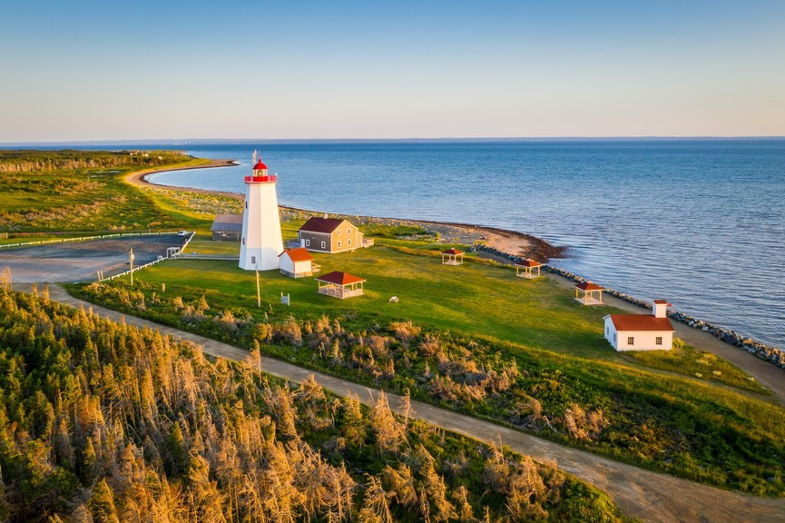 Miscou Island is the most eastern point in New Brunswick.