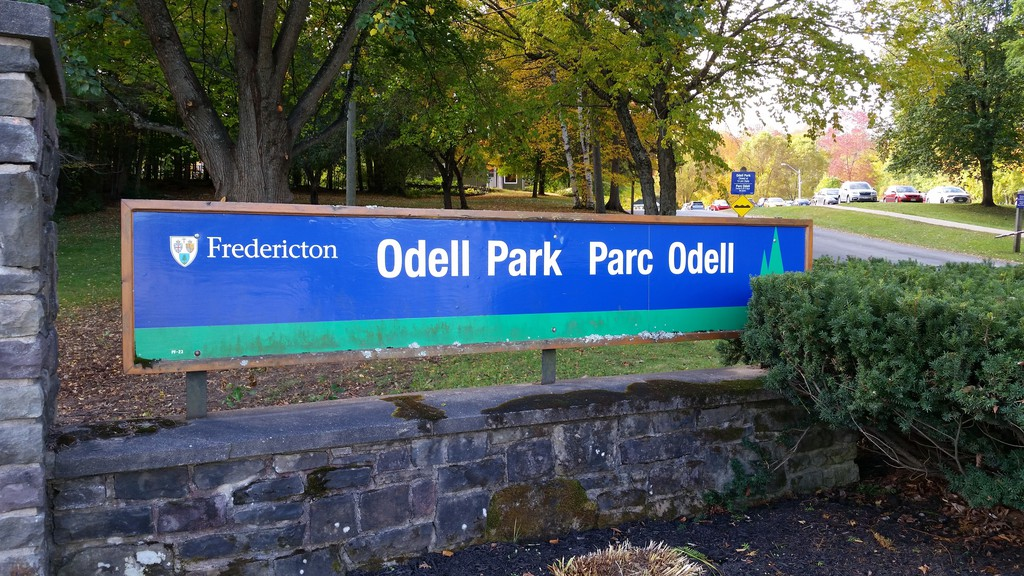 The sign for Fredericton's Odell Park.