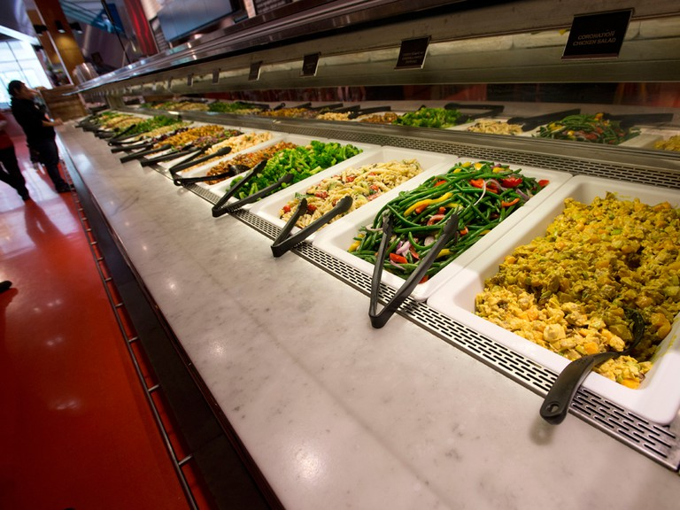 A salad bar at a Loblaws grocery store pre-pandemic.