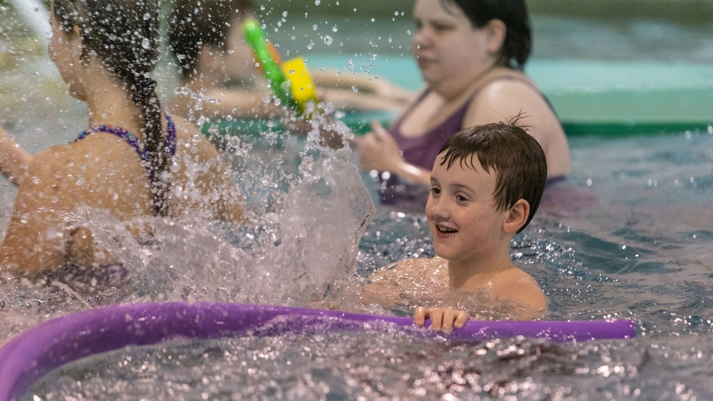 Ryan MacDonald splashes around during the final session of the autism swim program offered last year by Autism Resources Miramichi at the Golden Hawk Recreation Centre. The swim program was one of three Miramichi-area recipients of Horizon Health Network's 2020 Community Health Recognition Awards.