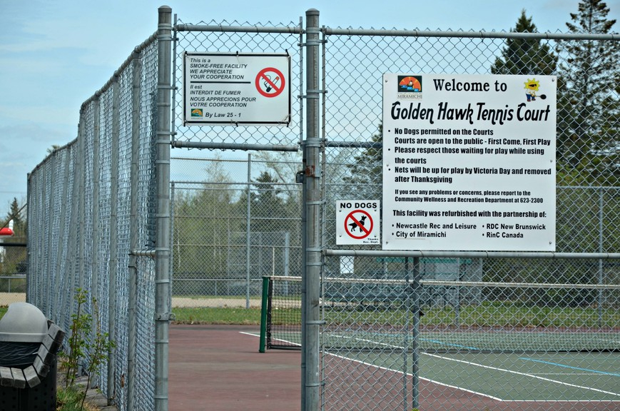 The Golden Hawk tennis courts will play host to the Miramichi community wellness and recreation department's youth tennis program and Le Petit Sports activities this summer.