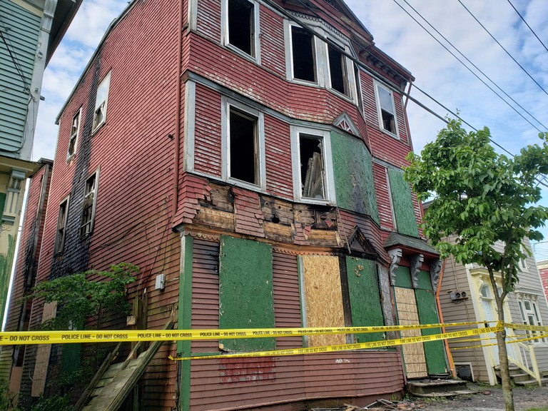 Saint John firefighters battled an early morning blaze at 96 Victoria St. Sunday. The three-storey house was fully engulfed in flames by the time firefighters arrived at the scene. The cause of the fire remains under investigation, according to the Saint John Fire Department.