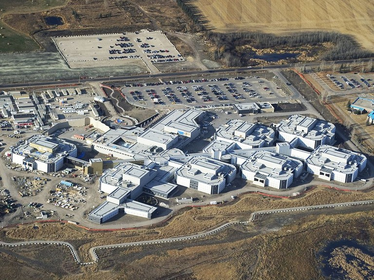 Aerial photos showing the New Edmonton Remand Centre