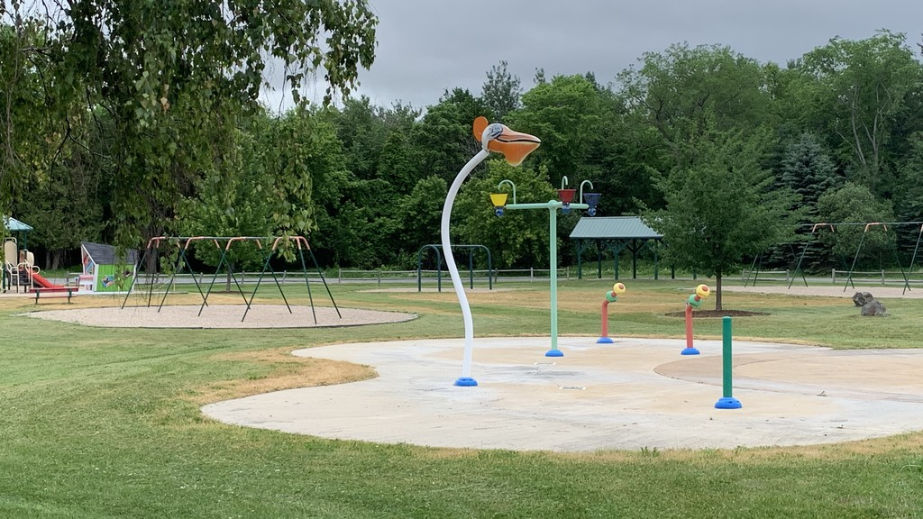 The Connell Park splash pad. The town hasn't set a date on when Connell Park will reopen this summer.