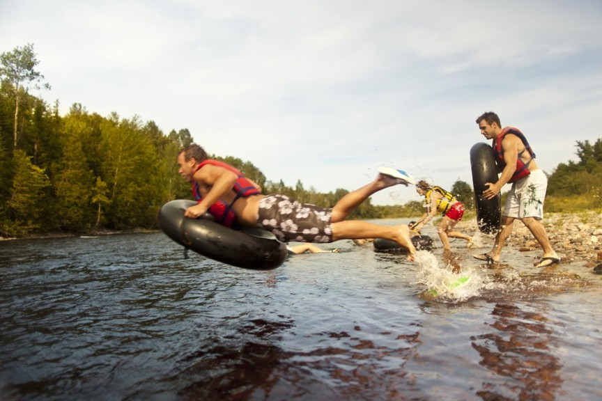 Tubing down the Miramichi River is a popular summer activity. There are three companies that offer half day and full day adventures.
