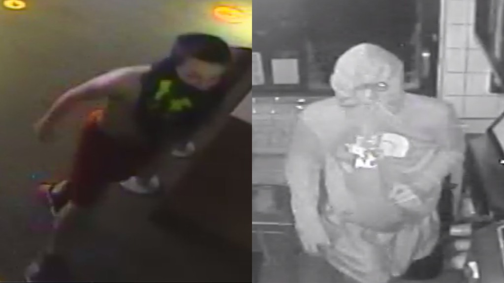 The Oromocto RCMP is looking for two teenagers who they say broke into a McDonald's to steal food.