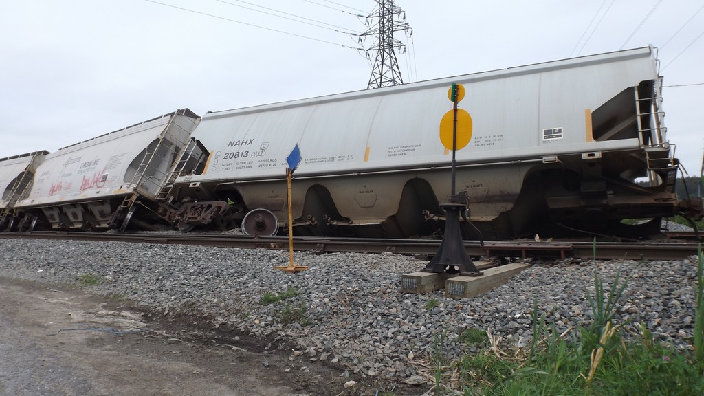 Nearby buildings had to be evacuated when eight-cars derailled behind Rothesay Avenue on June 20.
