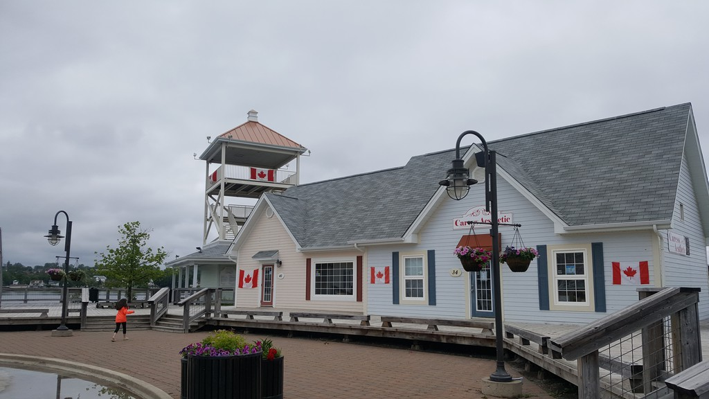 Stores at the Waterfront Promenade were decorated with the Canadian flag in preparations for Canada Day. The country will be celebrating its 153rd birthday on July 1, and the City of Bathurst has prepared a virtual celebration which will be transmitted on its Facebook page at 10 a.m.