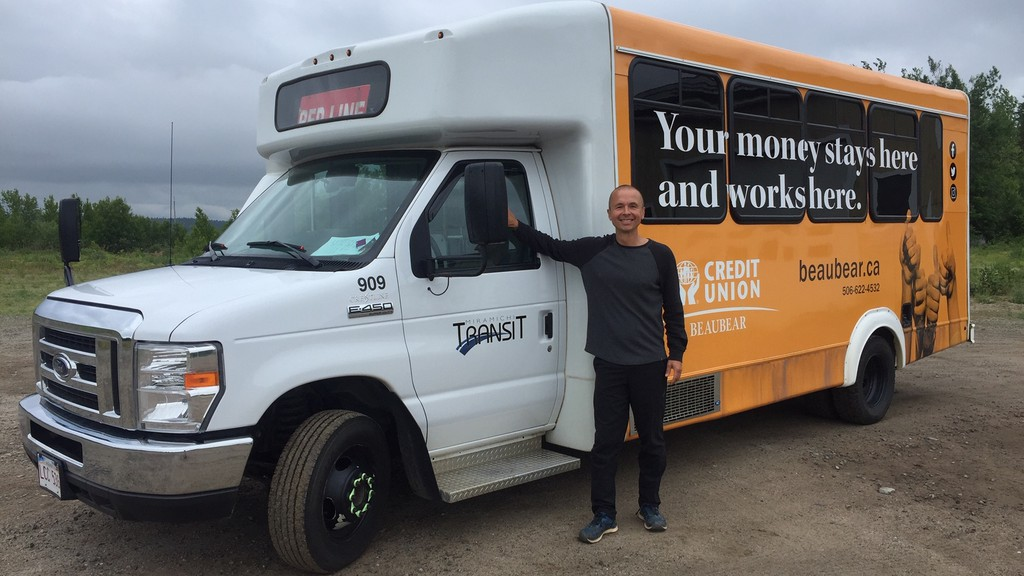 Miramichi Transit manager Darek Sumera is working on a proposal for an on-demand transit service for the city. He said the service would mean better coverage of the region and a more responsive service for riders.