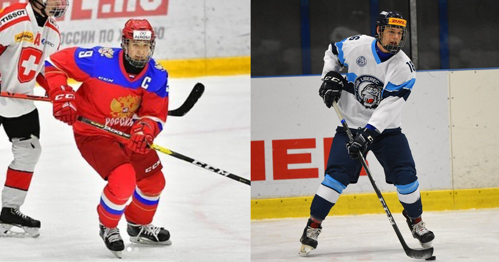 Russian forward Fyodor Svechkov (left) and Czech defenceman Jan Hampl (right) were the two Europeans selected Tuesday by the Saint John Sea Dogs in the CHL Import Draft.