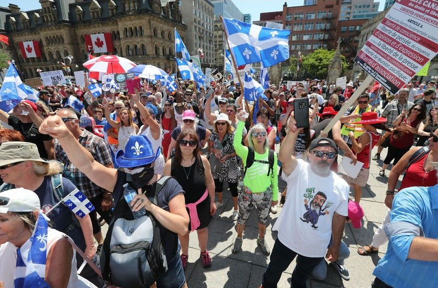 Canada Day on Parliament Hill in Ottawa Wednesday July 1, 2020. There were more protesters than Canada Day celebrations on the hill Wednesday.