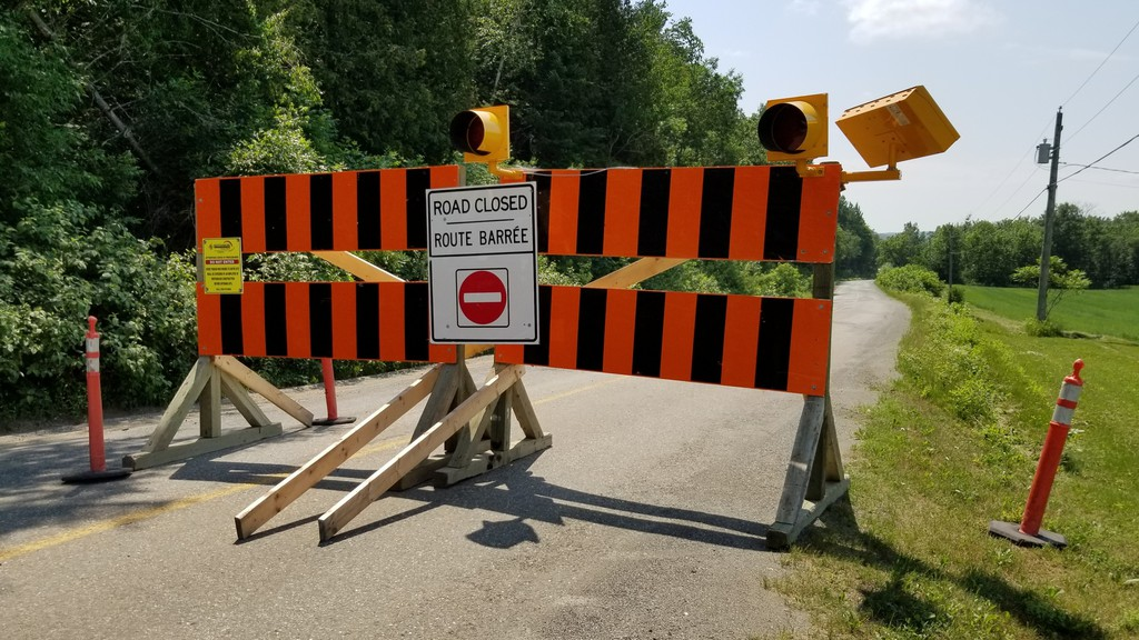 A section of Route 105 at Medford, near Tobique First Nation,will be closed to traffic until the middle of August as the Department of Transportation and Infrastructure carries out road repairs.