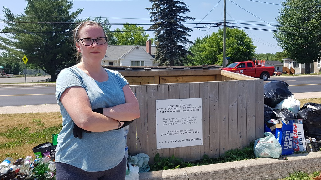 Kerri Daamen is fed up with incessant thefts of donated recyclables that are meant to benefit her kids' Scouting group.