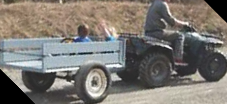 RCMPare asking for help in the theft of an all-terrain vehicle and a homemade utility trailer from a residence in Tracy Mills.