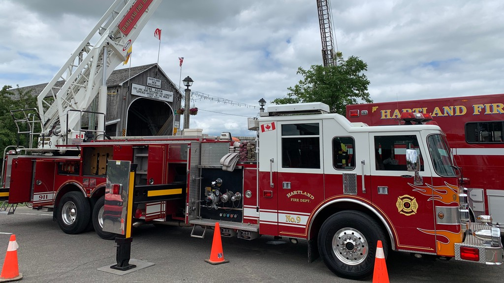The Hartland Fire Department's latest addition: a 2001 ladder truck purchased from New York.
