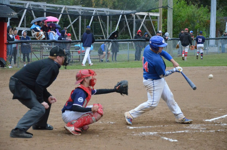 The Miramichi Trevors Nissan Twins and Team Nova Scotia battle during the 2019 Baseball Atlantic 15-and-Under AAA Championships at Memorial Field. The Miramichi Valley Minor Baseball Association, which includes the bantam Twins, and the Miramichi Slo-pitch League are both operating for the 2020 season.