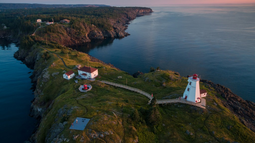 Pictured is the Swallow Tail Lighthouse on Grand Manan Island.