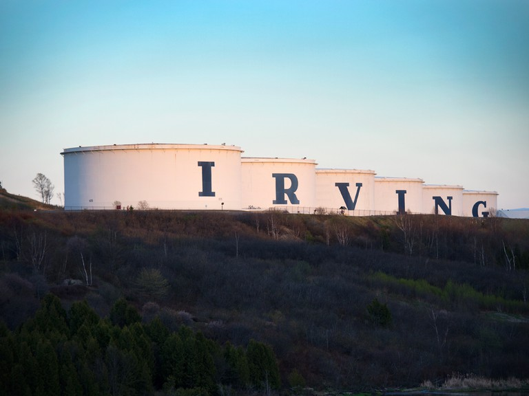 Irving Oil's refinery in Saint John. The company recently gained approval to increase access to Canadian oil from offshore Newfoundland.