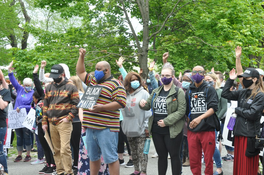 The recent Black Lives Matter march in Saint John.