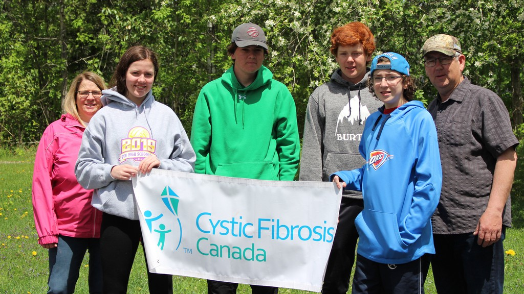 Members of the O'Neill family in Bath who participated in The Walk to Make Cystic Fibrosis history include  Monica, Carrie, Connor ,Cody, Colton, who has Cystic Fibrosis, and Jodi.