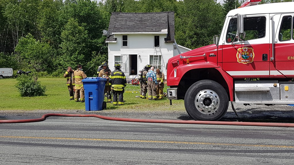 The Miramichi Fire Department was called to respond to a report of a structural fire in South Nelson shortly before midday on Monday, July 6.