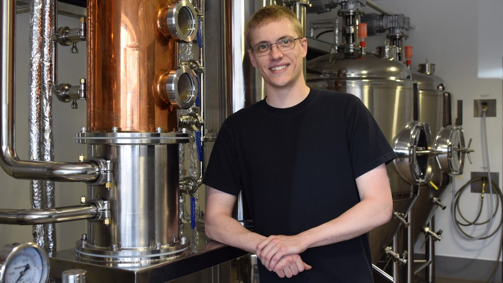 Mathieu Carroll began creating full-bodied rums at home now he's bringing them to Miramichiers at his new business Carroll's Distillery in Douglastown.