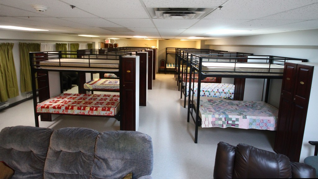 A file photo shows a women's sleeping area in the House of Nazareth shelter on Albert Street in Moncton.