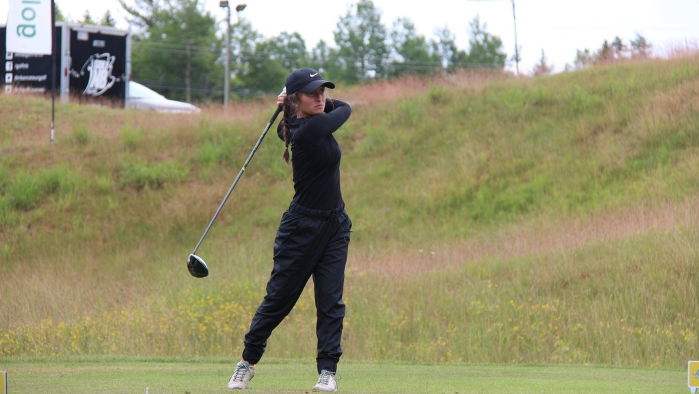 Julie Gauvin of the host club holds a 21-shot lead at the New Brunswick junior girls' golf championship at Fox Creek Golf Club in Dieppe.