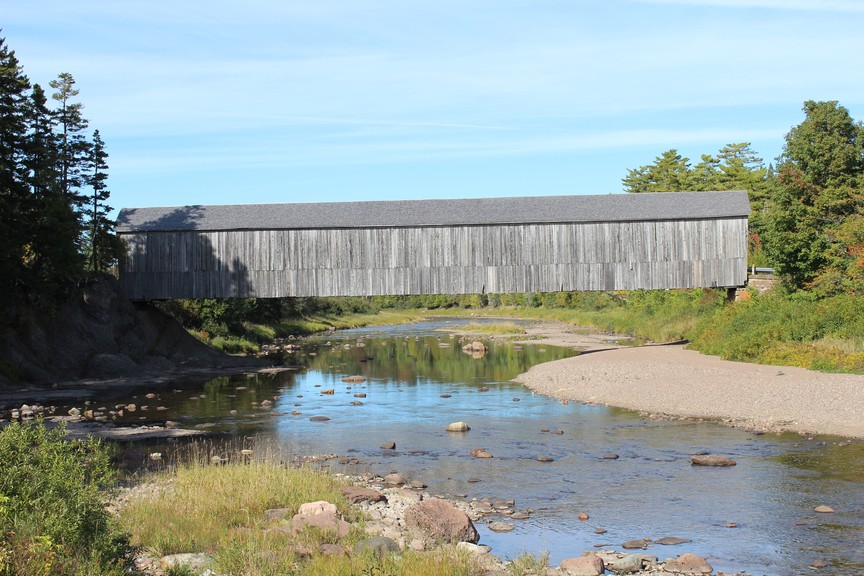 One of New Brunswick's 58 covered bridges, this one in Smithtown, is pictured here. Covered bridges are a great 'staycation' destination, writes Ray Boucher.