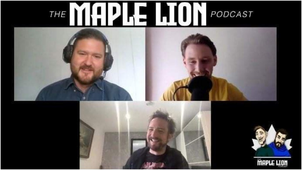 Matt Clark, of Fredericton, at the top on the left, and his friend, Sam Butler, of Manchester, England, have launched a new music podcast, called the Maple Lion Podcast, and they recently interviewed U.K. folk-rocker Frank Turner, also pictured.