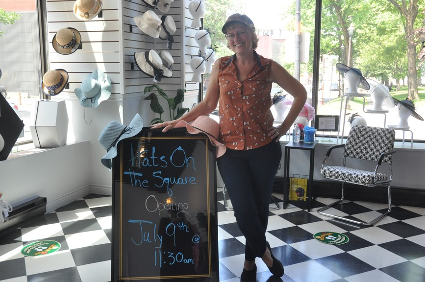 Hats on the Square opens on July 9, says owner Susie Alberts-Hines. She has always loved hats and that passion has turned into a new business in uptown Saint John.