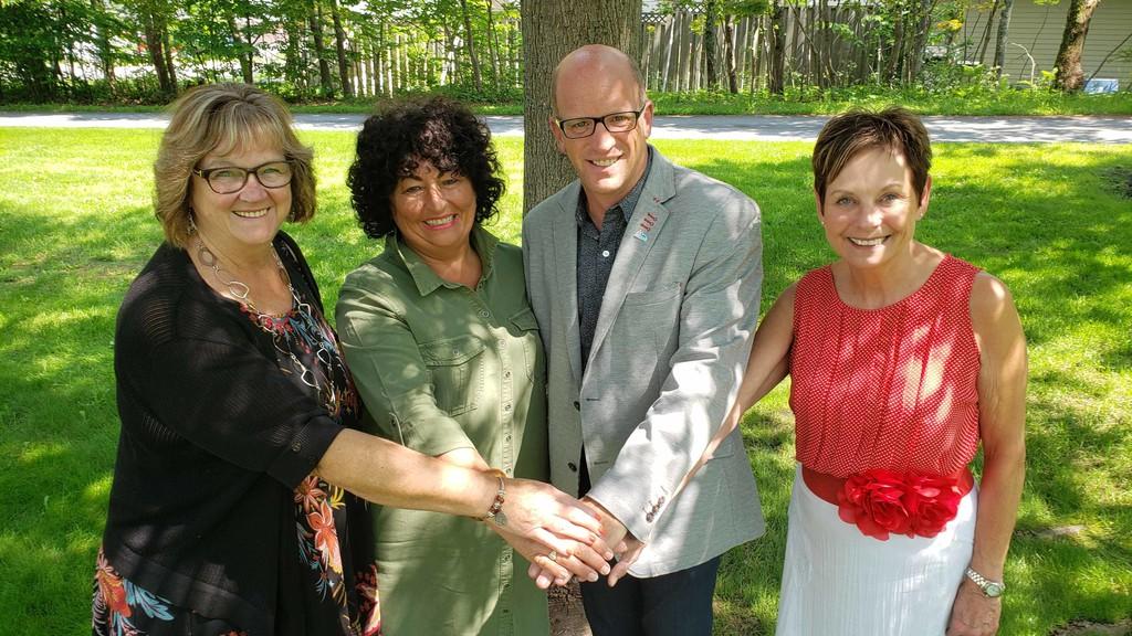St. Martins Mayor Bette Ann Chatterton, Grand Bay-Westfield Mayor Grace Losier, Quispamsis Mayor Gary Clark and Rothesay Mayor Nancy Grant.