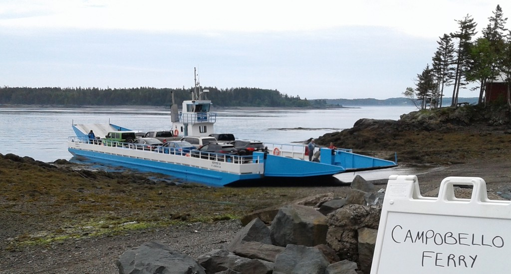 David Coon, Green Party leader and MLA for Fredericton South, took the Campobello ferry on Tuesday. Coon supports a year-round ferry for the island.