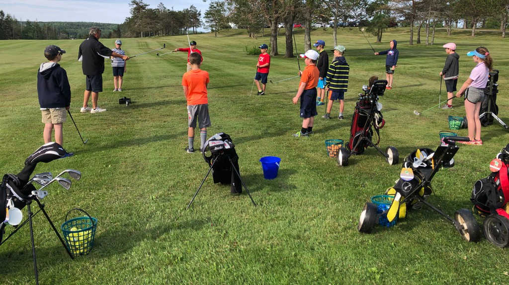 The Sackville Golf and Country Club began its summer junior program on Wednesday. Club volunteers painted baskets of golf balls 12 different colours as a way to minimize COVID-19 health and safety issues for participating players.